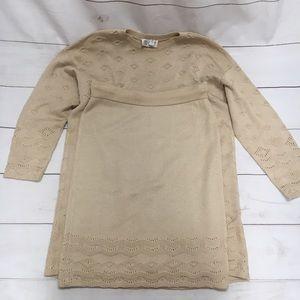 Cream St. John Sportswear Knit Skirt and Top